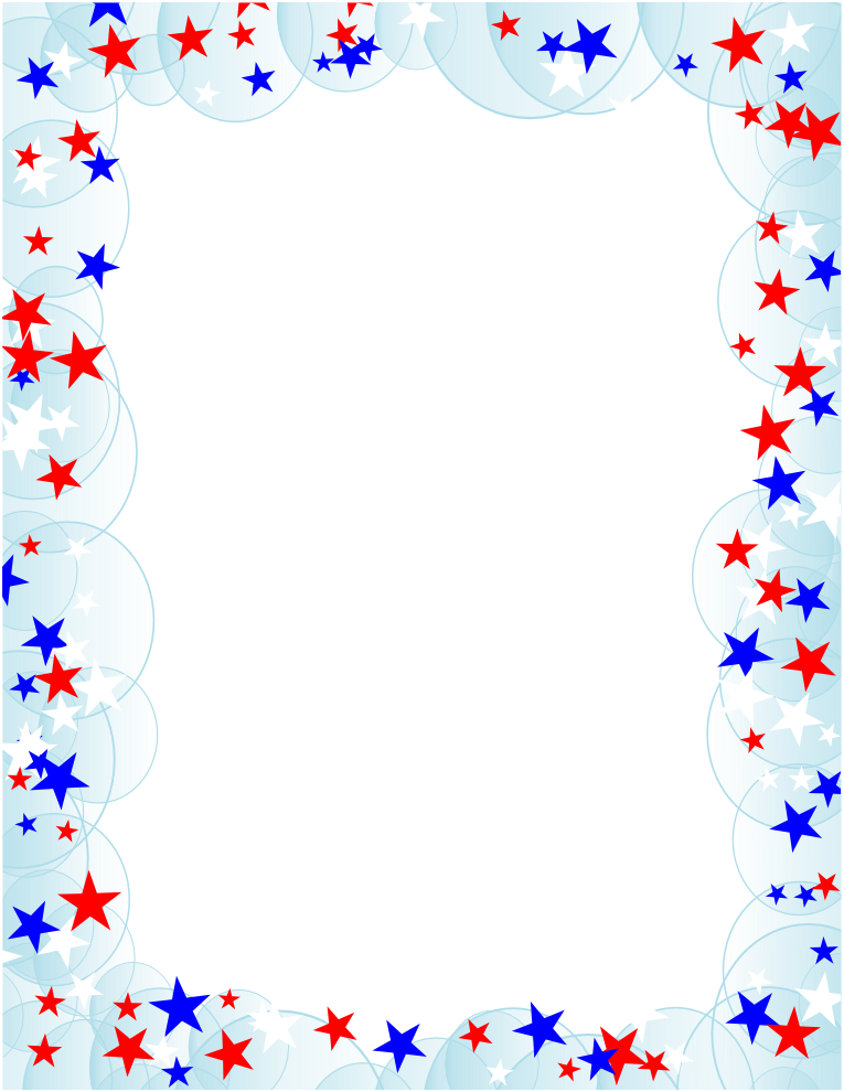 Stars and Bubbles Border.