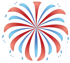 red white and blue firework clipart #2