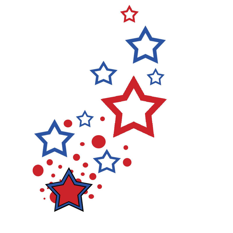 Red Blue Star Clipart.