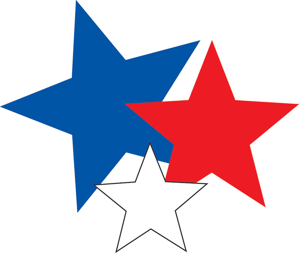 Red White And Blue Stars.