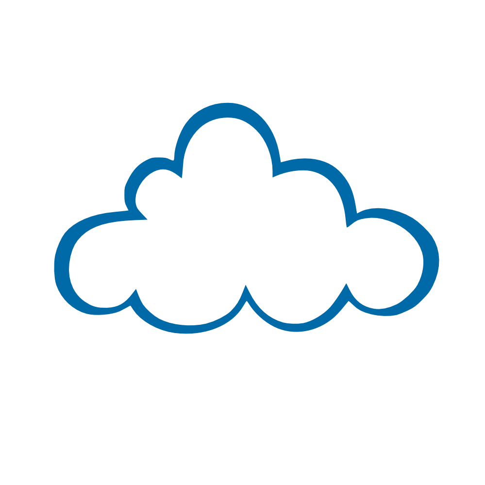 White cloud clipart blue free.