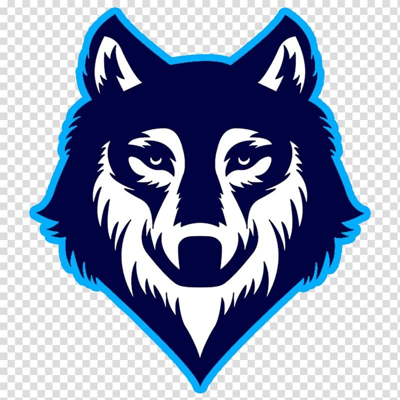 Wolf illustration, Gray wolf Logo Drawing , BLUE WOLF.