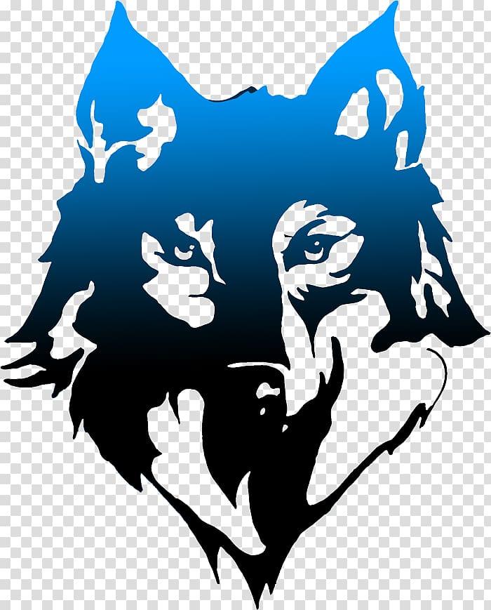 Black wolf illustration, Gray wolf T.
