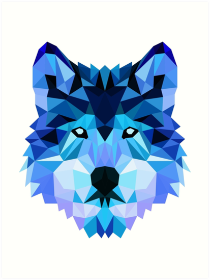 'Blue Wolf' Art Print by Abbysinthe.