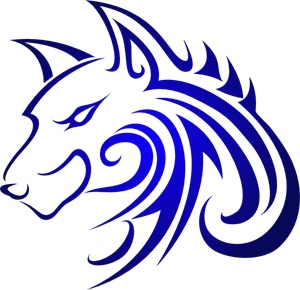 Blue Wolf PNG, SVG Clip art for Web.