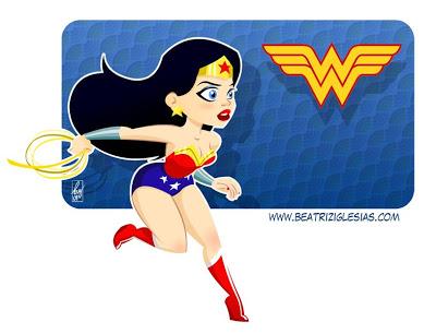 Wonder Woman Cute Clipart.