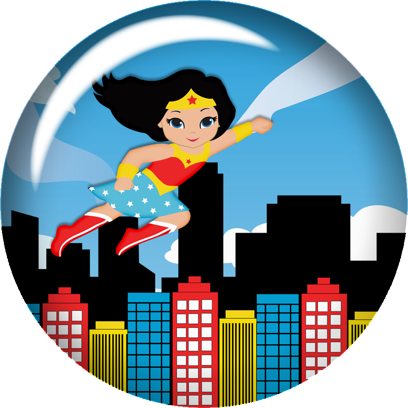 Wonder Woman Baby Clipart..
