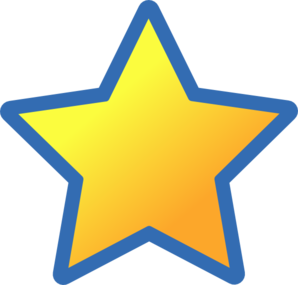 Rising Star Yellow And Blue Clipart.