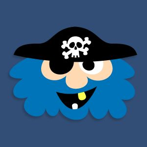 Masketeers Printable Masks: Blue Beard The Pirate.