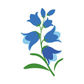 Free Bluebell Flower Clipart and Vector Graphics.