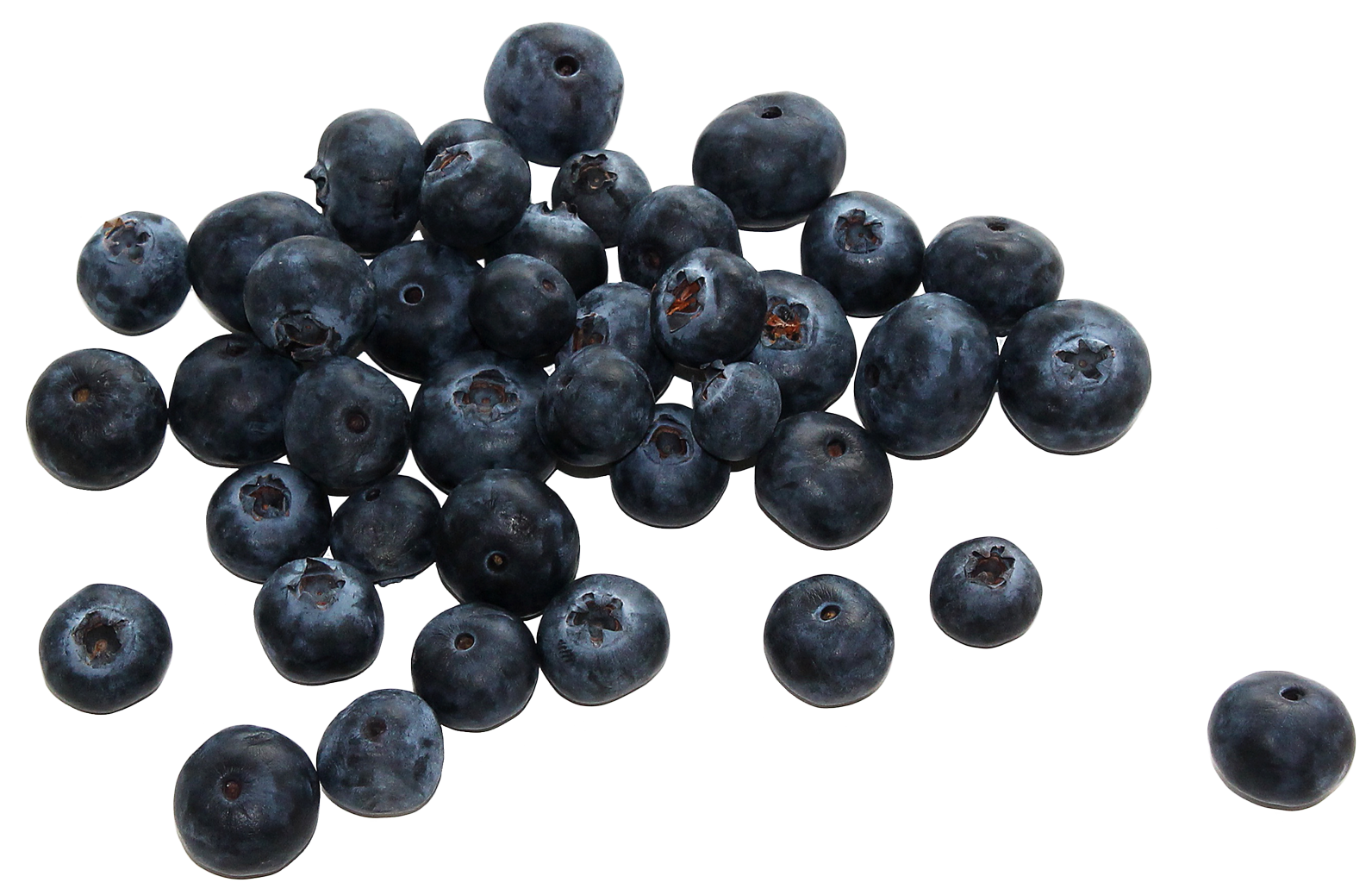 Group of Blueberries PNG Image.