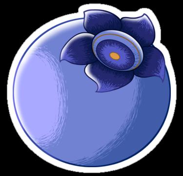 "Bold Blueberry"" Stickers by Kayli Beach."