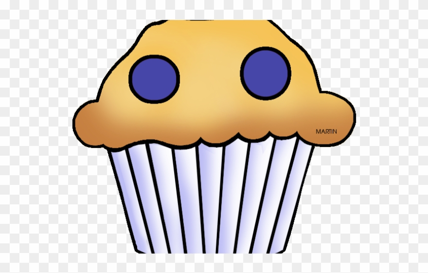 Blueberry Muffin Clipart Border.