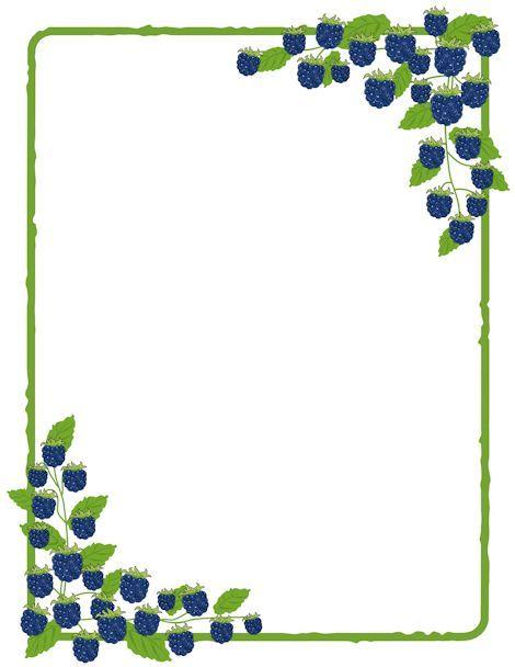 Blueberries clipart frame, Blueberries frame Transparent.