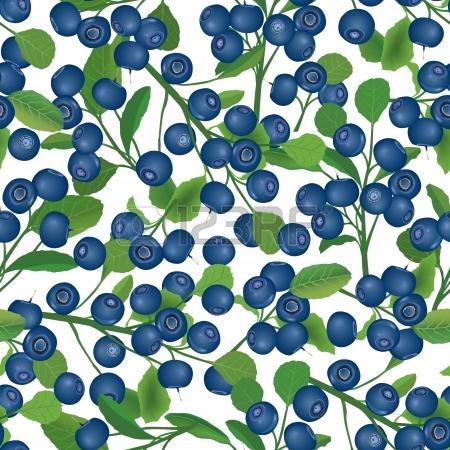 Blueberry Bush Seamless Background Berry Pattern Royalty Free.