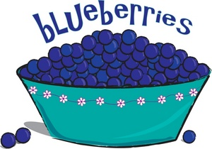 Blueberries Clipart Image.