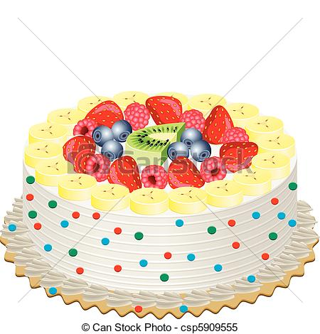 Blueberry Cake Clipart.