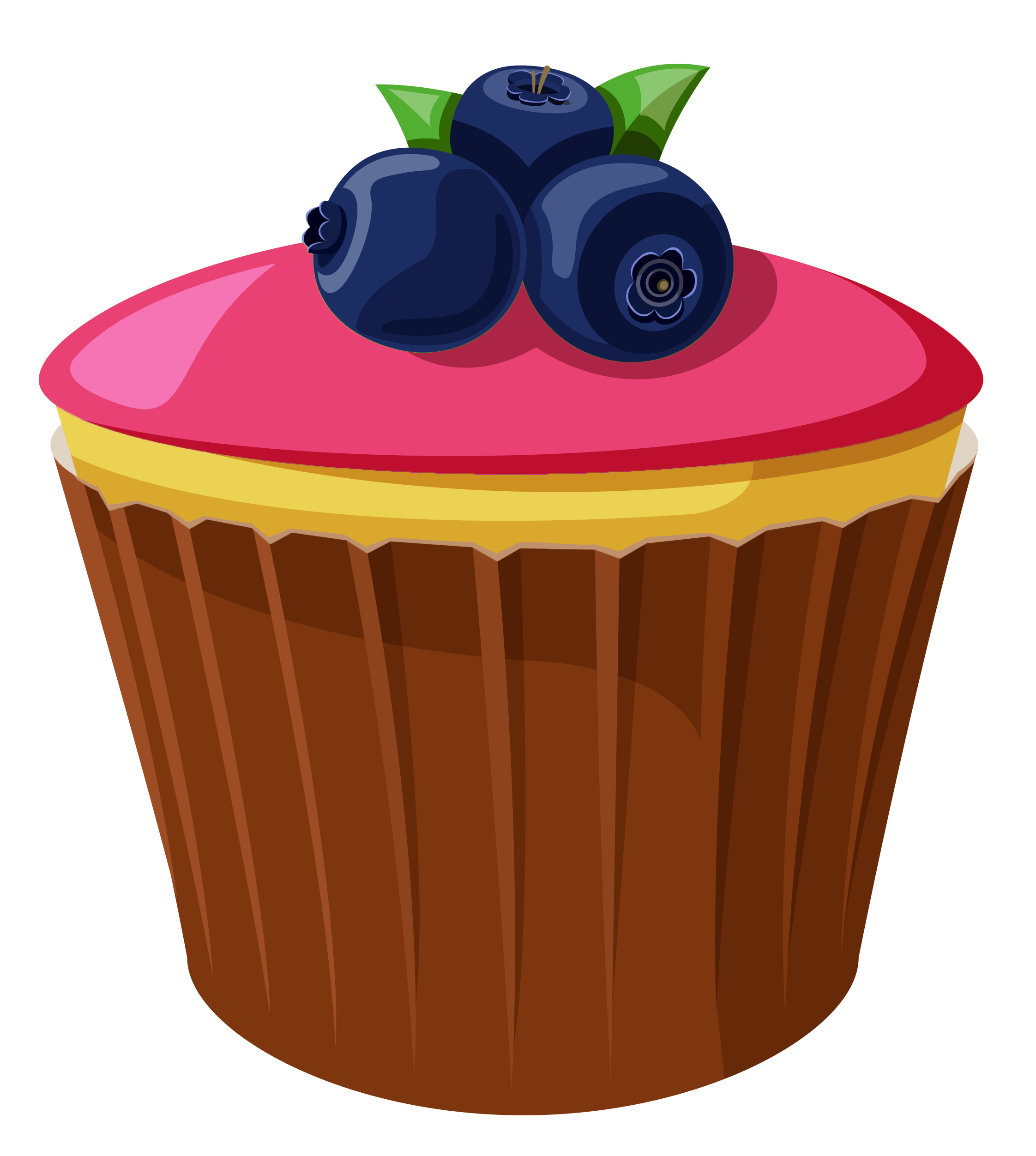 Mini Cake with Blueberries PNG Clipart Picture.