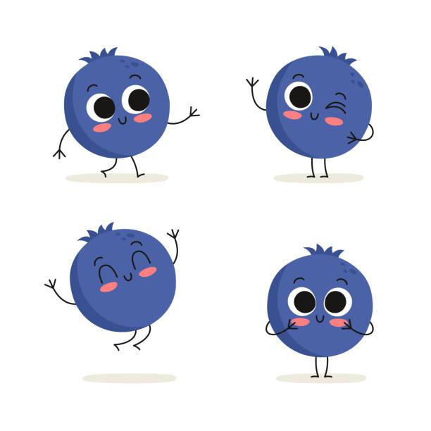 Best Blueberry Cartoon Illustrations, Royalty.