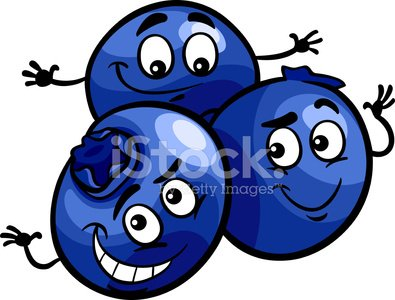 Funny Blueberry Fruits Cartoon Illustration premium clipart.