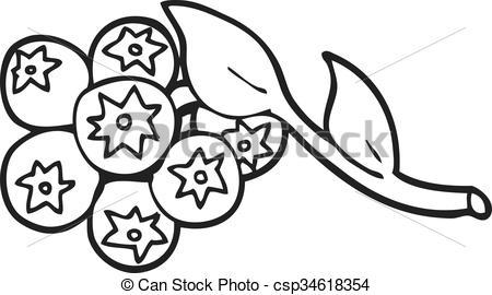 Blueberry clipart black and white 3 » Clipart Portal.