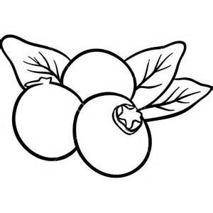 Blueberry Clipart Black And White.