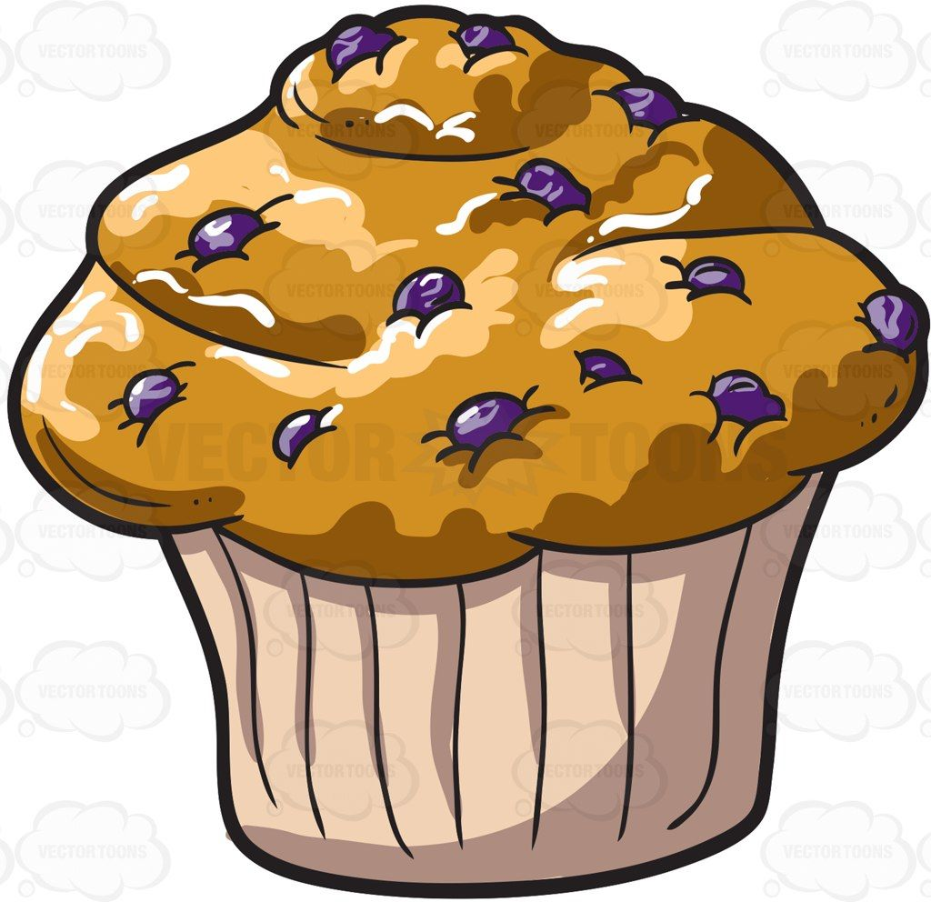 A blueberry muffin #cartoon #clipart #vector #vectortoons.