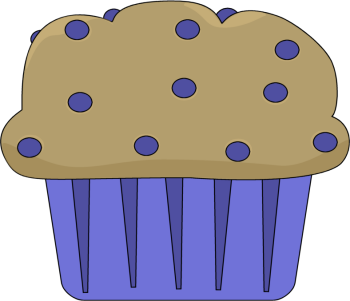 Blueberry Muffin Clip Art.