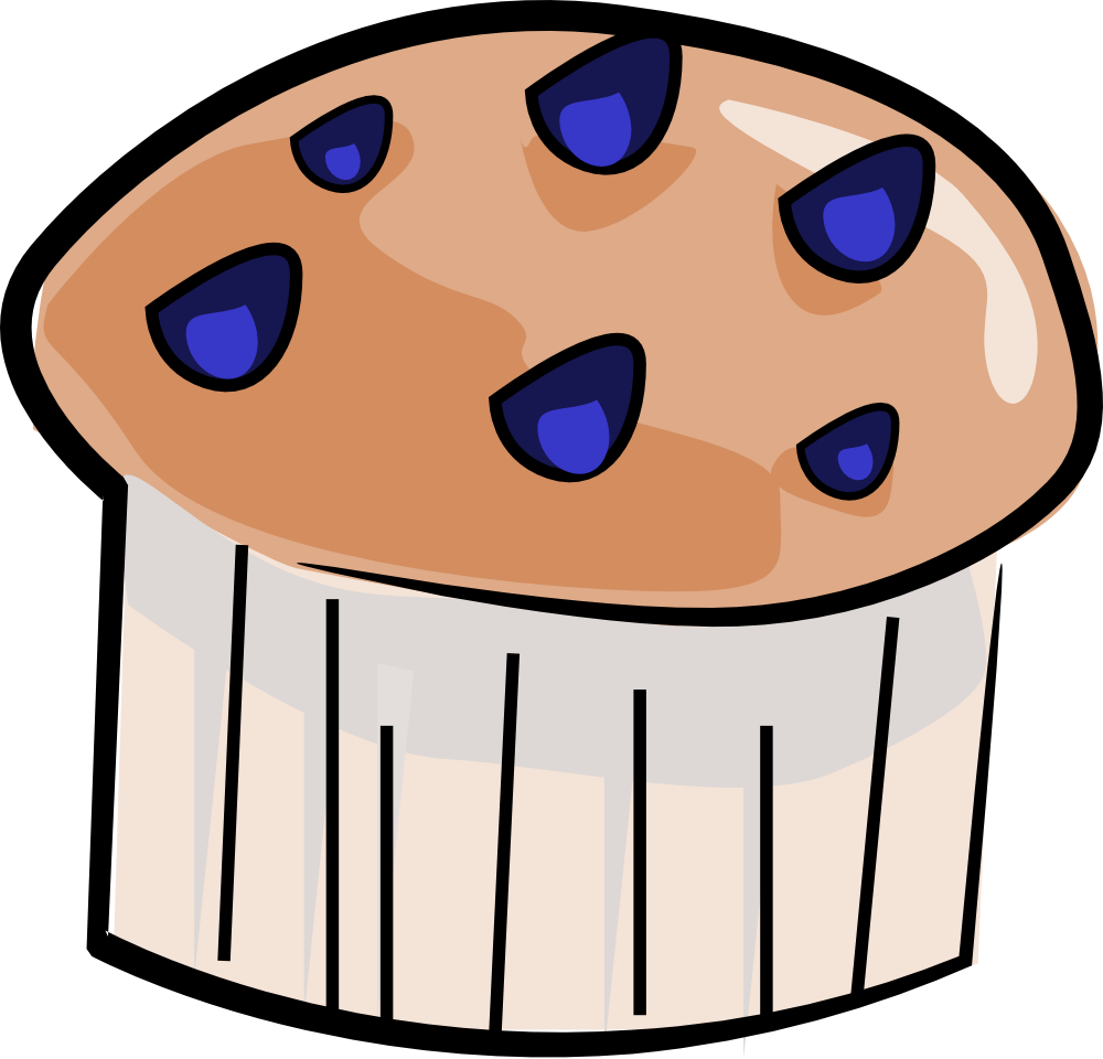 Clipart blueberry muffin.
