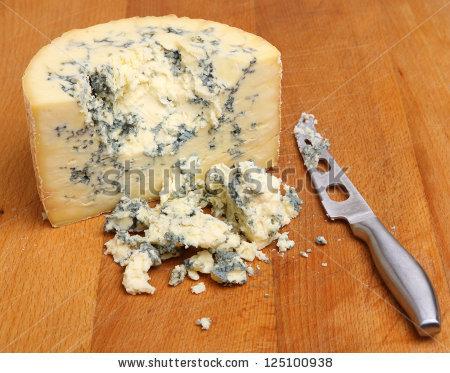 Blue Cheese Crumbles Stock Photos, Royalty.
