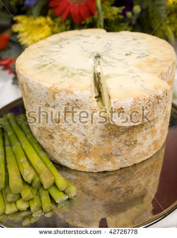 Blue Cheese Crumbles Stock Photos, Royalty.