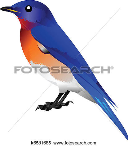 Clipart of Bluebird pointing k8998422.