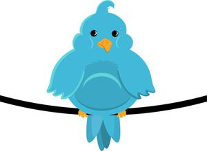 Little blue bird clipart.