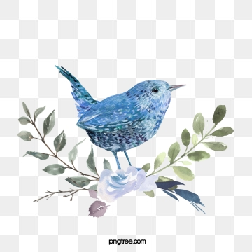 Blue Bird PNG Images.