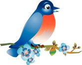Bluebirds Clip Art and Menu Graphics.