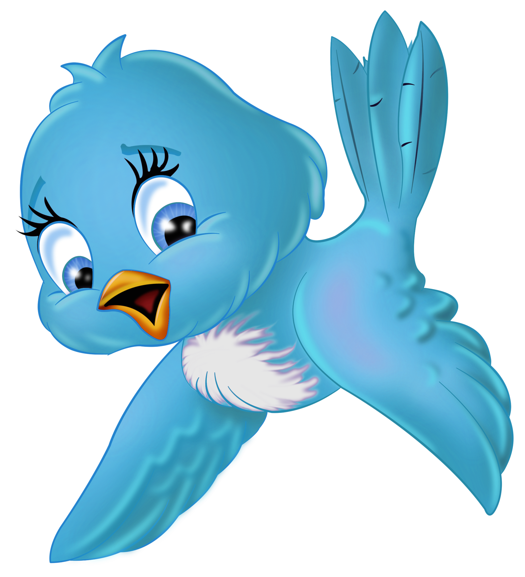 Cartoon blue bird.