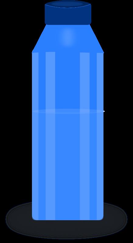 Blue Bottle Clipart.