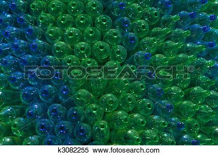 Stock Illustration of Green and Blue bottles. k3082255.