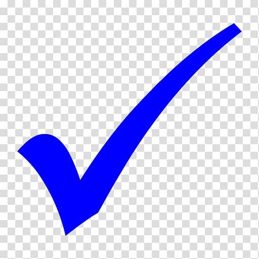 Blue check logo, Check mark Computer Icons , Blue Checkmark.
