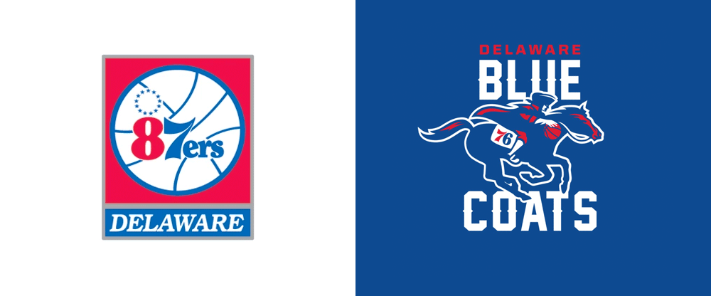 Brand New: New Name and Logo for Delaware Blue Coats.