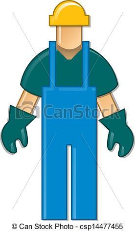 Blue collar job clipart.