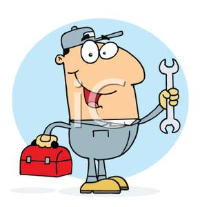 Blue collar job clipart.