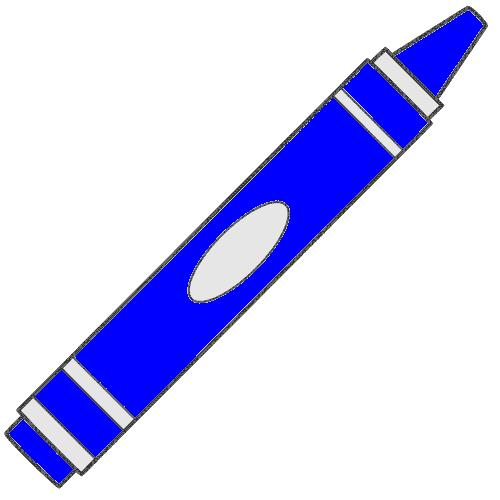 Blue crayon clipart.