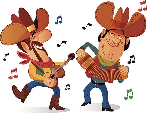 Bluegrass Band Illustrations, Royalty.