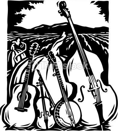 Bluegrass Band Silhouette.