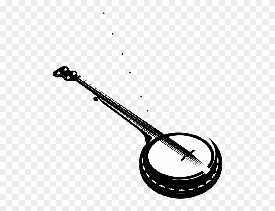 Banner Library Stock Banjo Clipart Crossed.