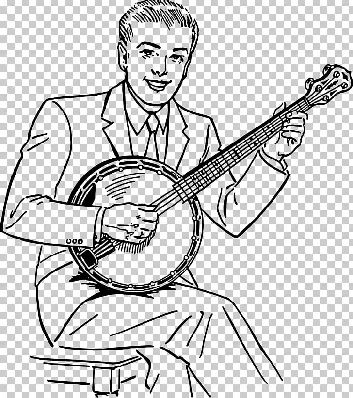 Banjo Musical Instruments Bluegrass PNG, Clipart, Arm, Art, Artwork.