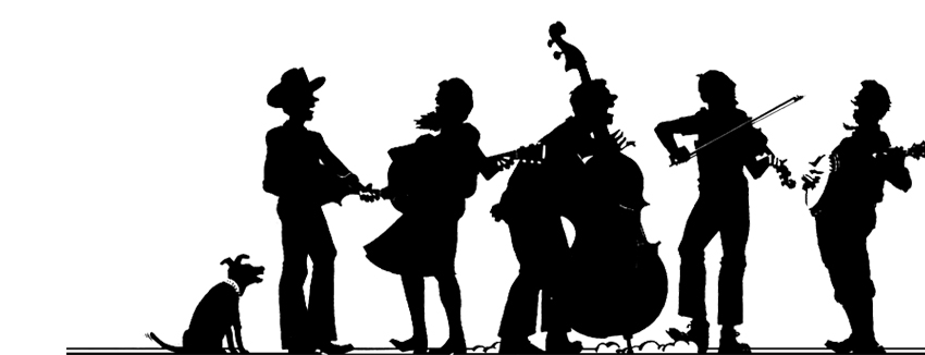 Bluegrass band clipart.