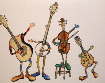 Bluegrass Music Clipart.