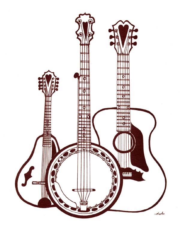 Bluegrass band clipart.